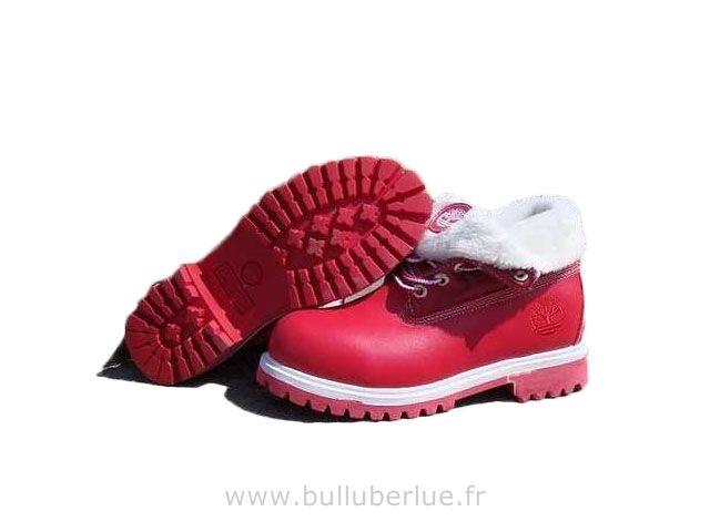 Bottes Timberland Roll Top rouge Bottes femme Chaussure De Ville ... dd31c1f83524