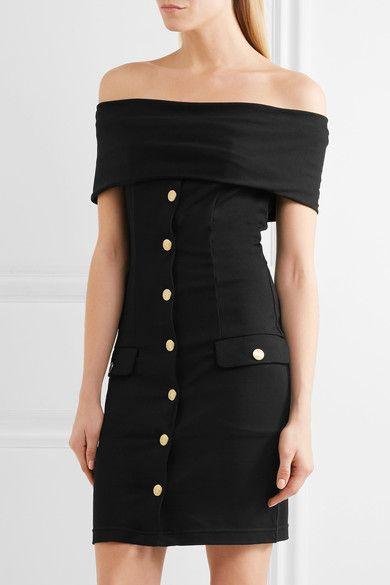 665b38b0 Pierre Balmain - Off-the-shoulder Stretch-jersey Mini Dress - Black - FR34