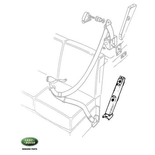 Classic Land Rover Parts: BRACKET SEAT BELT 2nd ROW WHEELARCH, RNB957, 347844