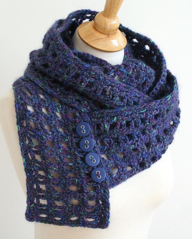 Window Pane Scarf Crochet Pattern | Häkeln
