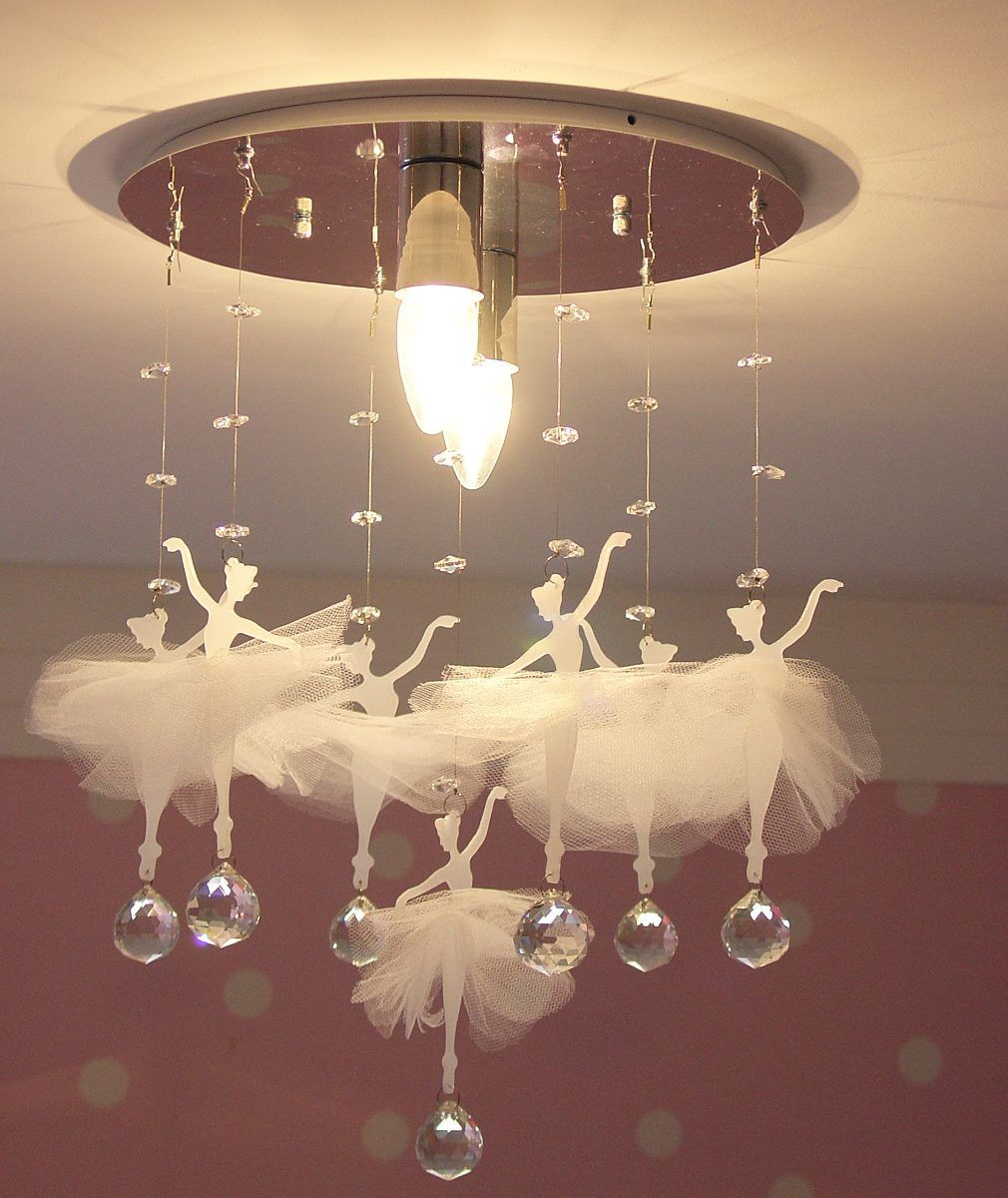 Lustre Plafon Bailarinas3 Quarto De Menina Quarto Beb  ~ Luminaria Quarto Teto E Quarto Moderno De Casal