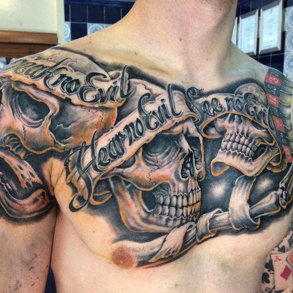 28 Hear No Evil See No Evil Speak No Evil Tattoos With Meanings Tattooswin Evil Tattoos Evil Skull Tattoo Good And Evil Tattoos