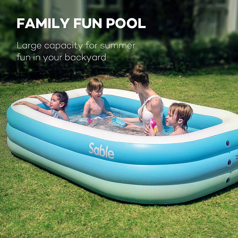 Sable Inflatable Pool In 2020 Inflatable Pool Inflatable Swimming Pool Swimming Pools Backyard