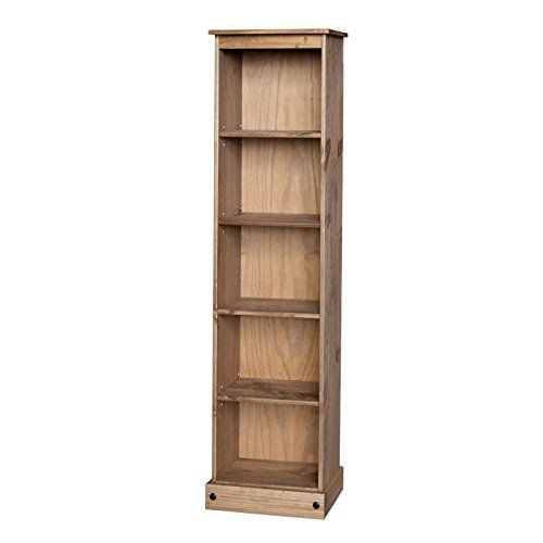 Classic Oak Narrow Bookcase Light Oak Furniture Tongue Groove