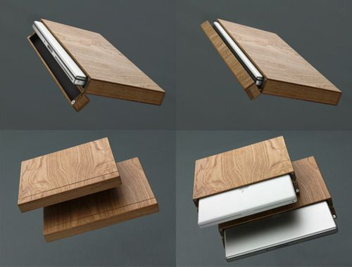 Good wood - great simple and elegant wooden laptop case by Rainer ...