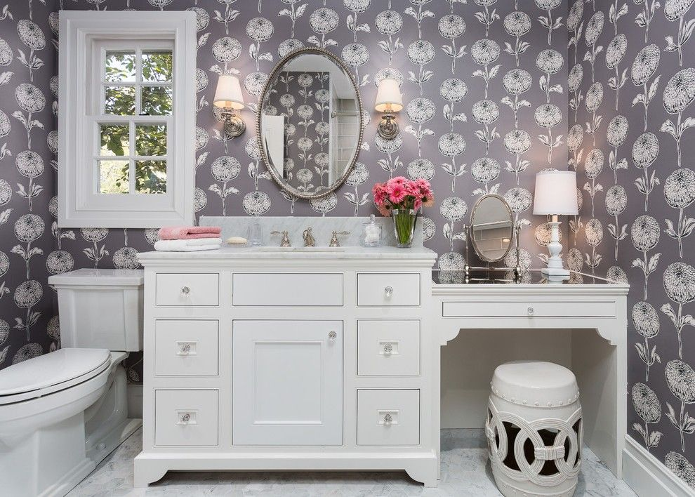 Inspiration Web Design Beadboard Bathroom Vanity Contemporary with White Counter Wall Sconces
