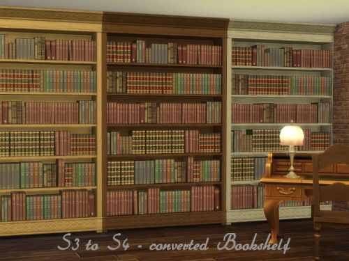 Chillis Sims Bookshelf Converted From TS3 To TS4 O 4 Downloads
