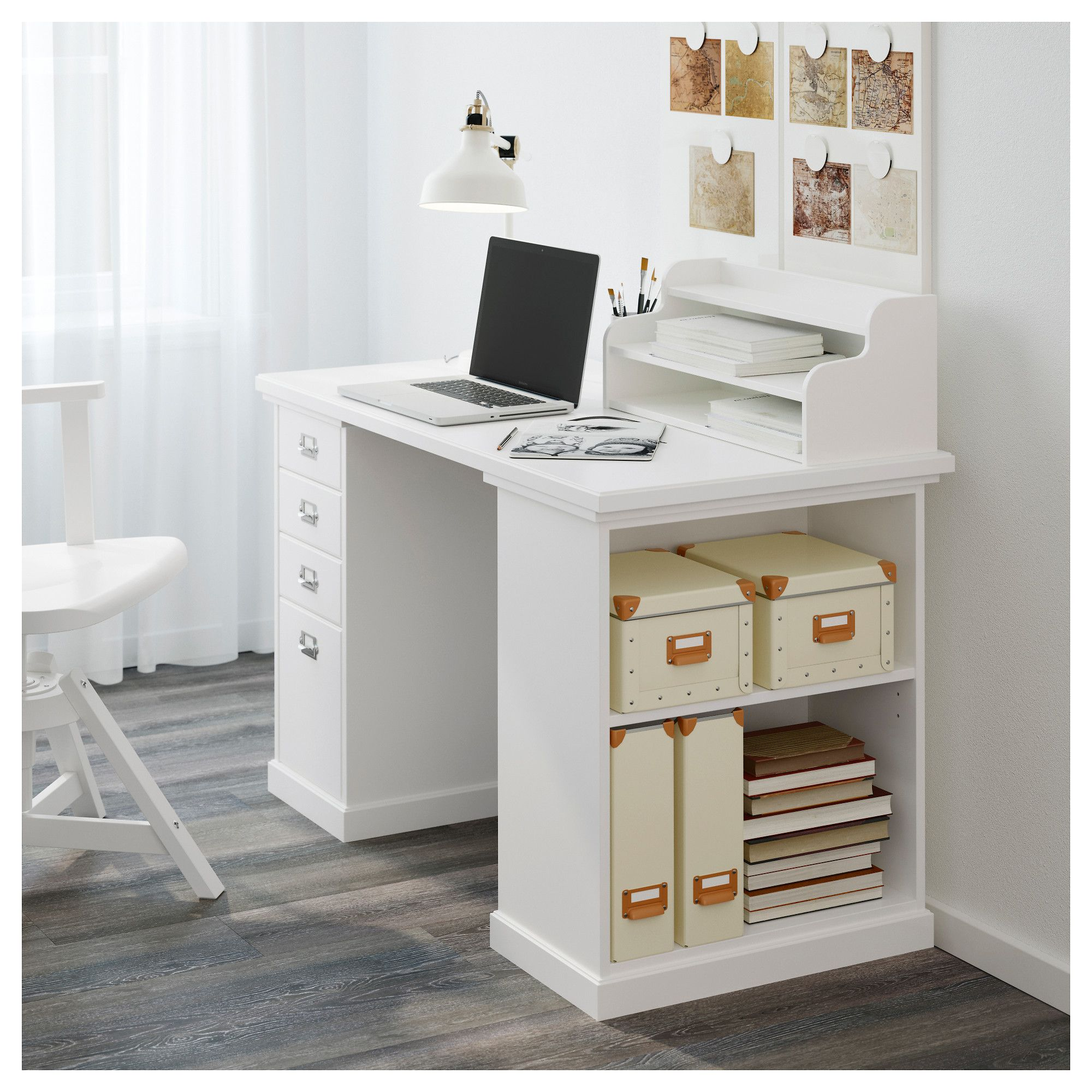 ikea klimpen table with storage the add on unit can be placed on the rh pinterest com