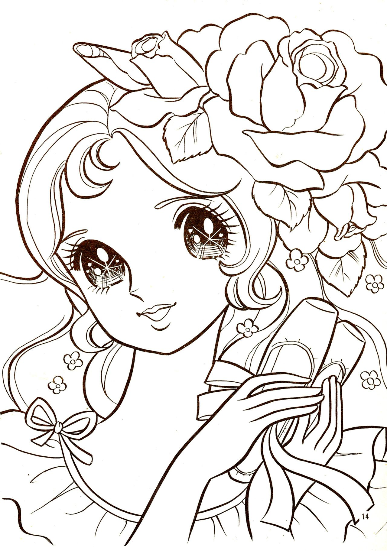 Shoujo Coloring Coloring Pages Adult Shoujo Coloring