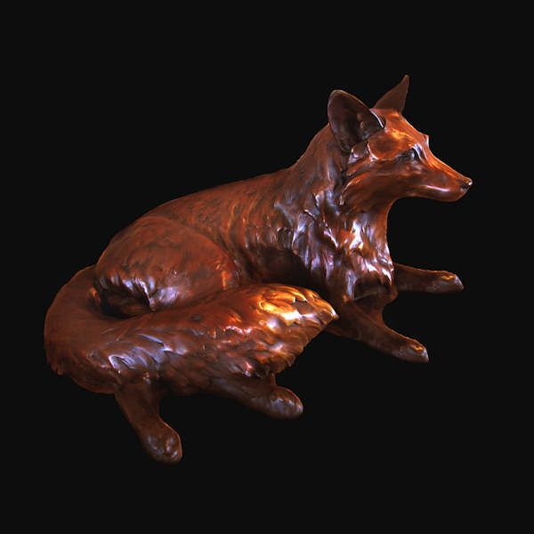 I love foxes! A stunning bronze one! Appliance repair