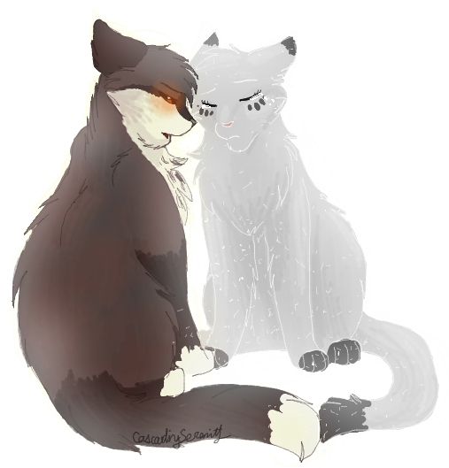 Thistleclaw And Snowfur Starclan And The Dark Forest Warrior
