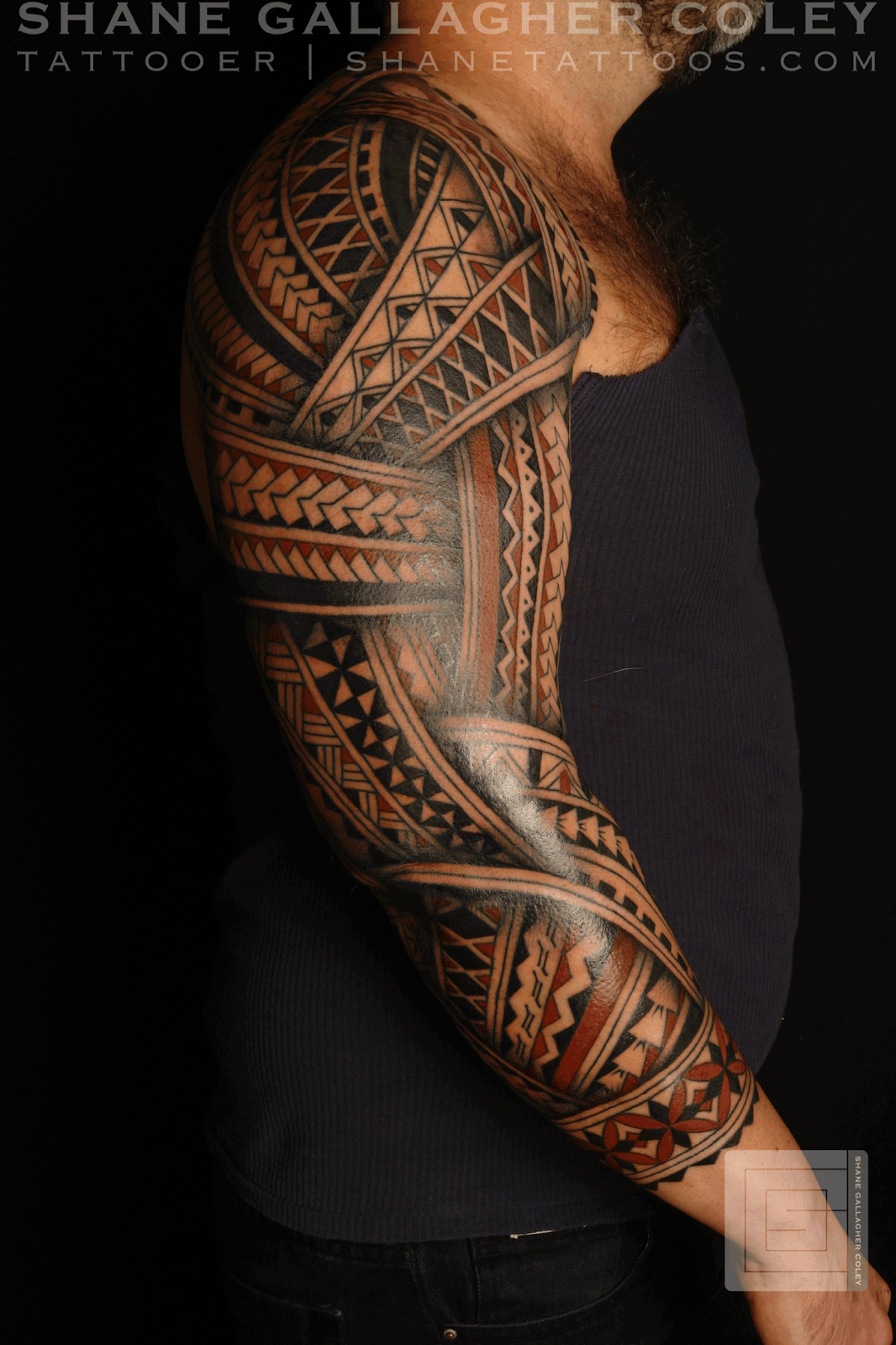 maori polynesian tattoo polynesian sleeve andres. Black Bedroom Furniture Sets. Home Design Ideas