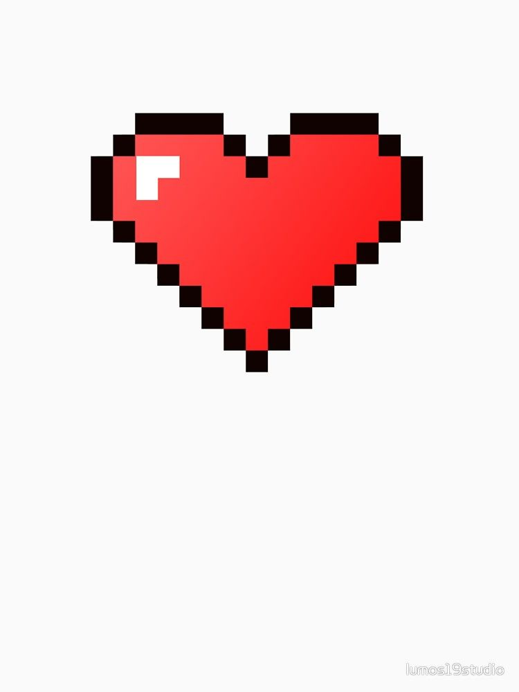 Pixelated 8 Bit Heart Version 1 Pixel Heart Tattoo 8 Bit Pixel Heart