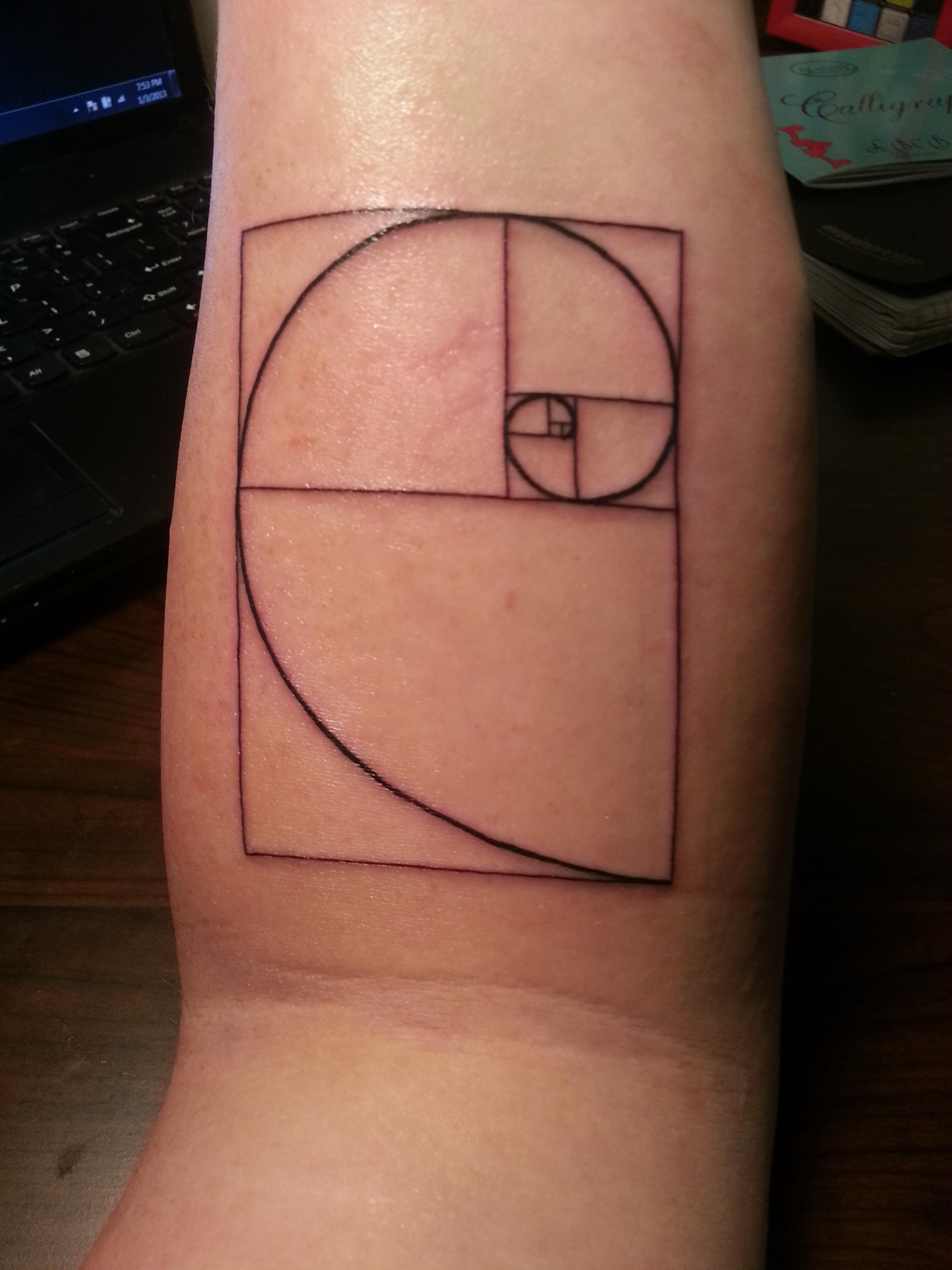 Fibonacci Spiral Tattoo: Spiral Minimalist Tattoo - Google Search