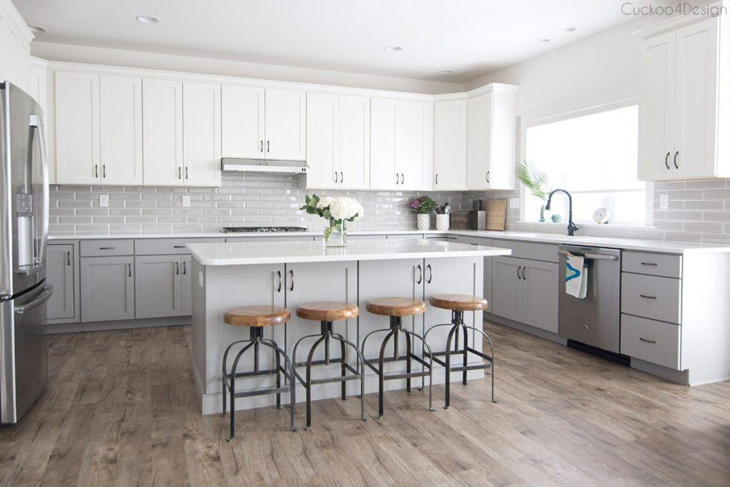 My Friends Gorgeous Gray And White Kitchen Cuckoo4design Gray And White Kitchen Grey Kitchen Floor Cottage Kitchen Design