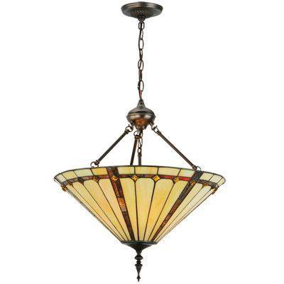 Meyda Tiffany Belvidere 3 Light Inverted Pendant