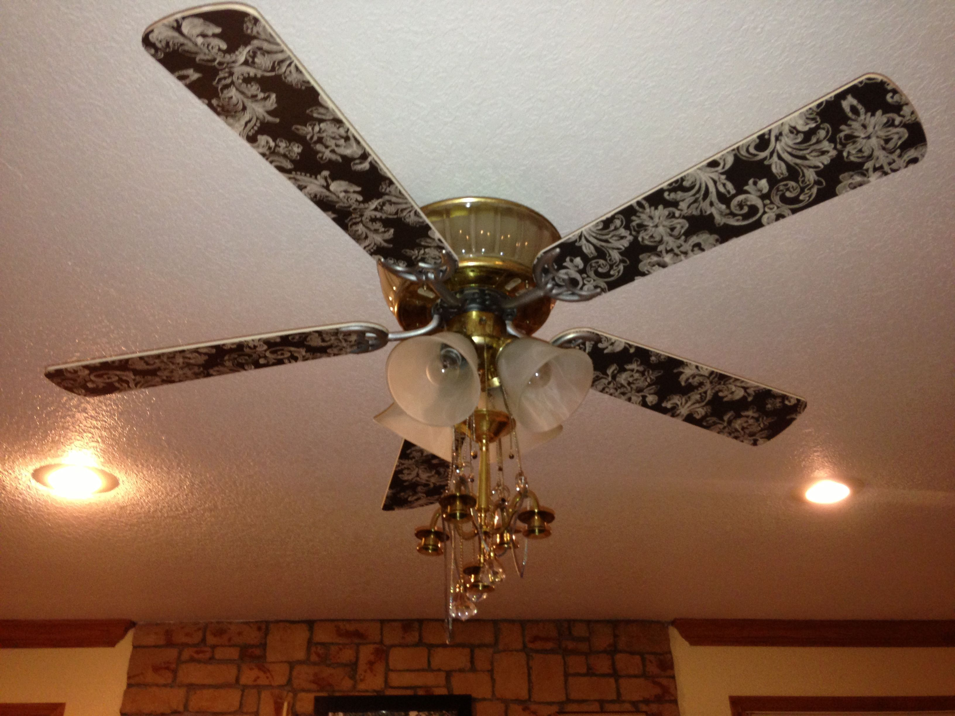 Black And Gold Ceiling Fan Antique Chandler Fan Used Sophisticated Finishes Black Tint