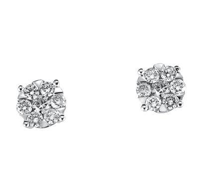 zapatos de separación cfe2b 89d67 Aretes oro blanco 14k con 38 puntos de diamante Precio ...