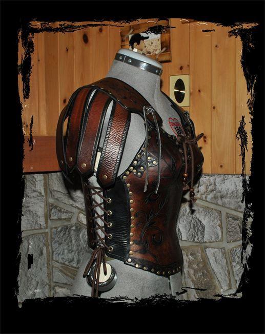 female leather armor,