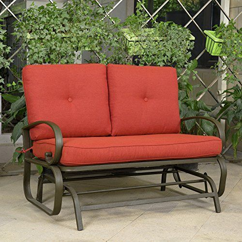 wrought iron loveseat vintage outdoor swing sofa patio bench homy design glider the ideas