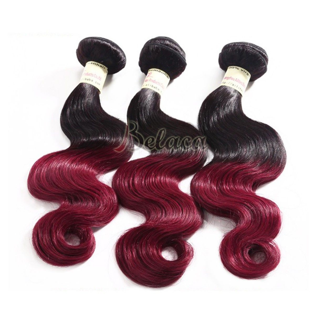 3 Bundles Cheap Purple Colored Sew In Weave Remy Hair Extensions For