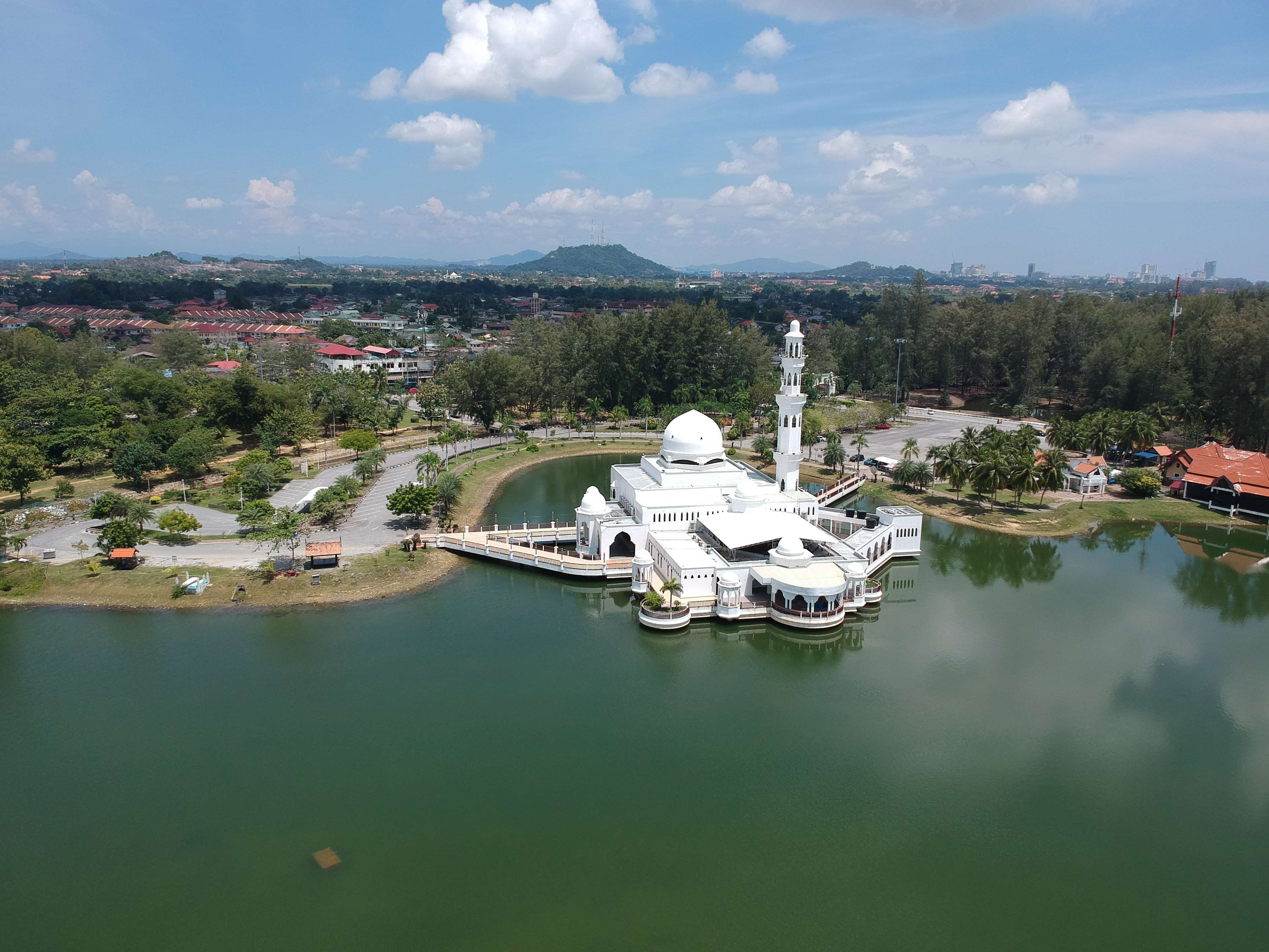 Aerial Shot Aerial View Architecture Birds Eye View From Above Lake Mosque River Sky Town Beautiful Scenery Pictures Scenic Photography Photography