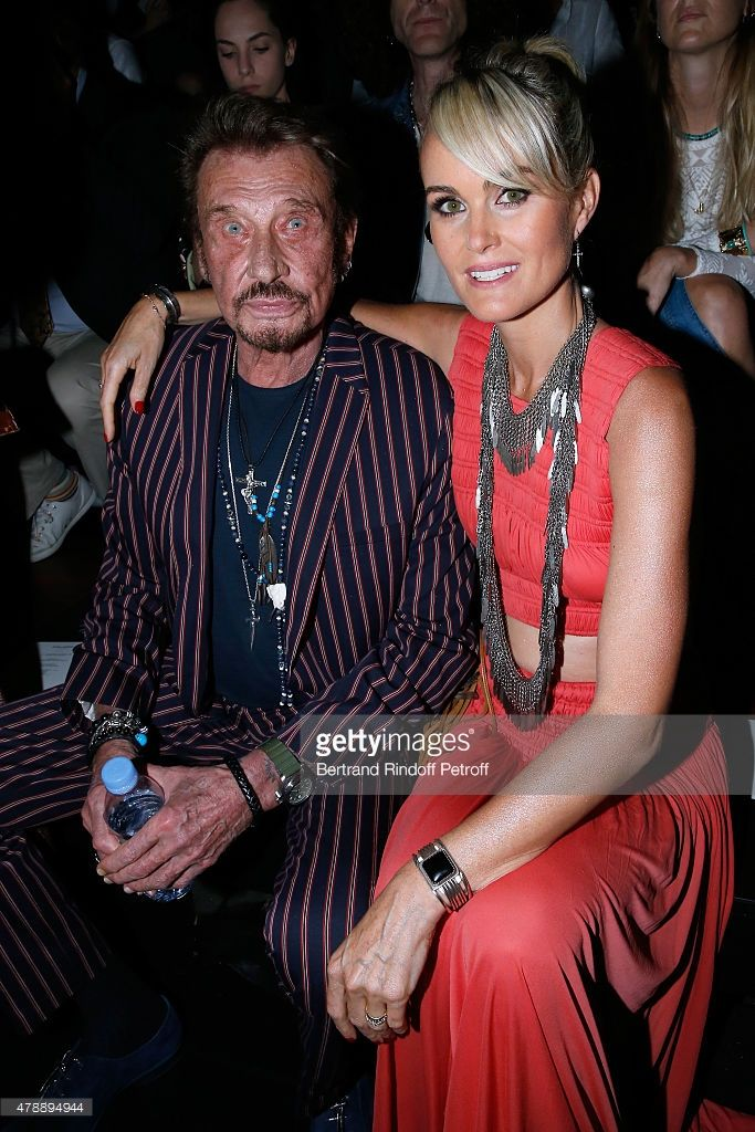 Singer Johnny Hallyday and his wife Laeticia attend the ...
