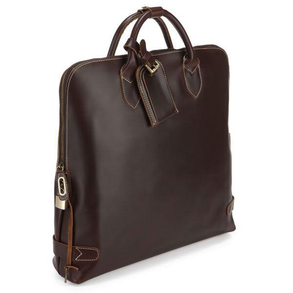 "Handmade Leather Briefcase / Tote Handbag / Messenger / 14"" Laptop or 15"" Macbook Pro Bag"