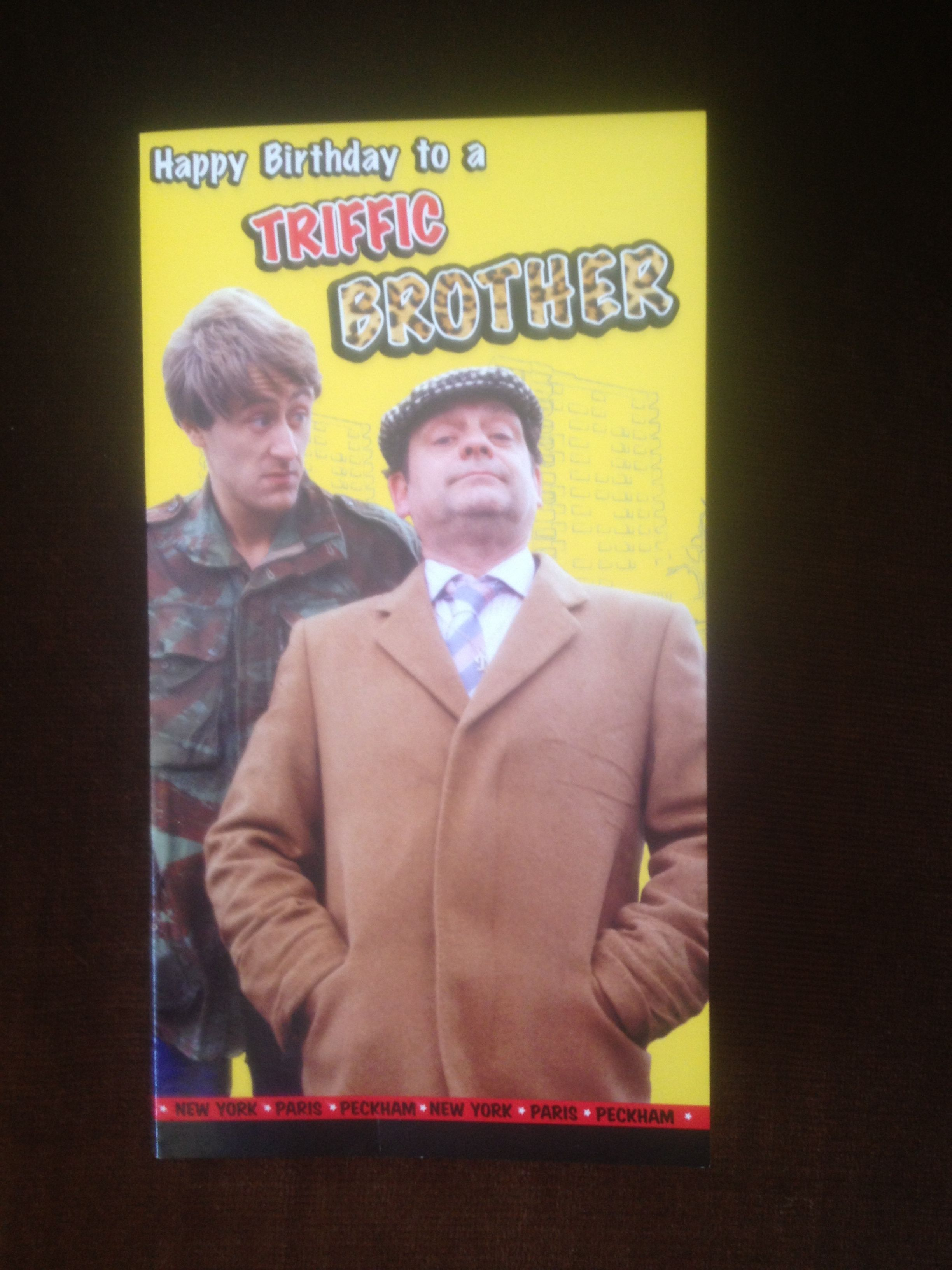 My 50th Birthday Card From My Brother 50th Birthday Cards 50th Birthday Only Fools And Horses