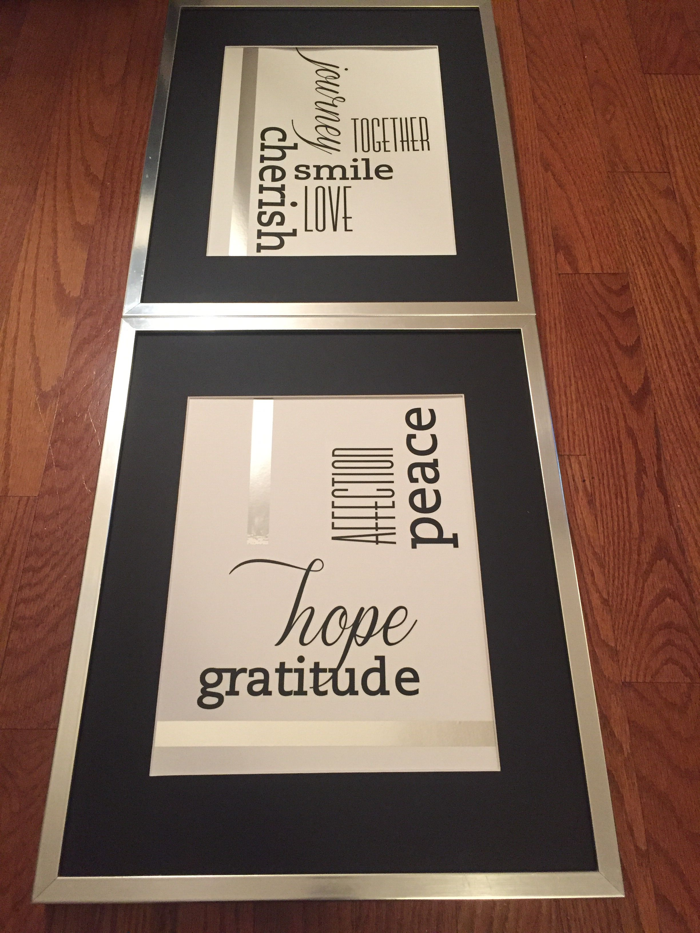$35 Wall Decor for Bedroom: Recycled frames, Wall Decor Decal Kit ...