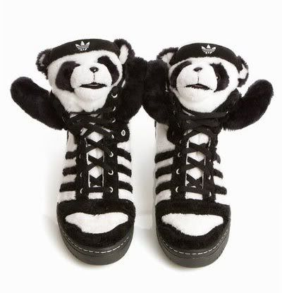 so wouldve tried these if i were 10yrs younger. adidas Originals Jeremy  Scott Panda Shoes