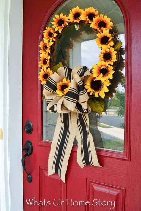 Photo of Sunflower wreath DIY | What is Ur Home Story
