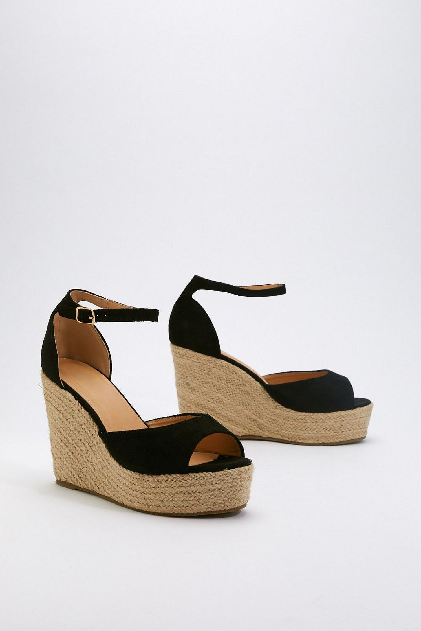 ea1b3bb68520 Sunny Afternoon Faux Suede Woven Wedges in 2019