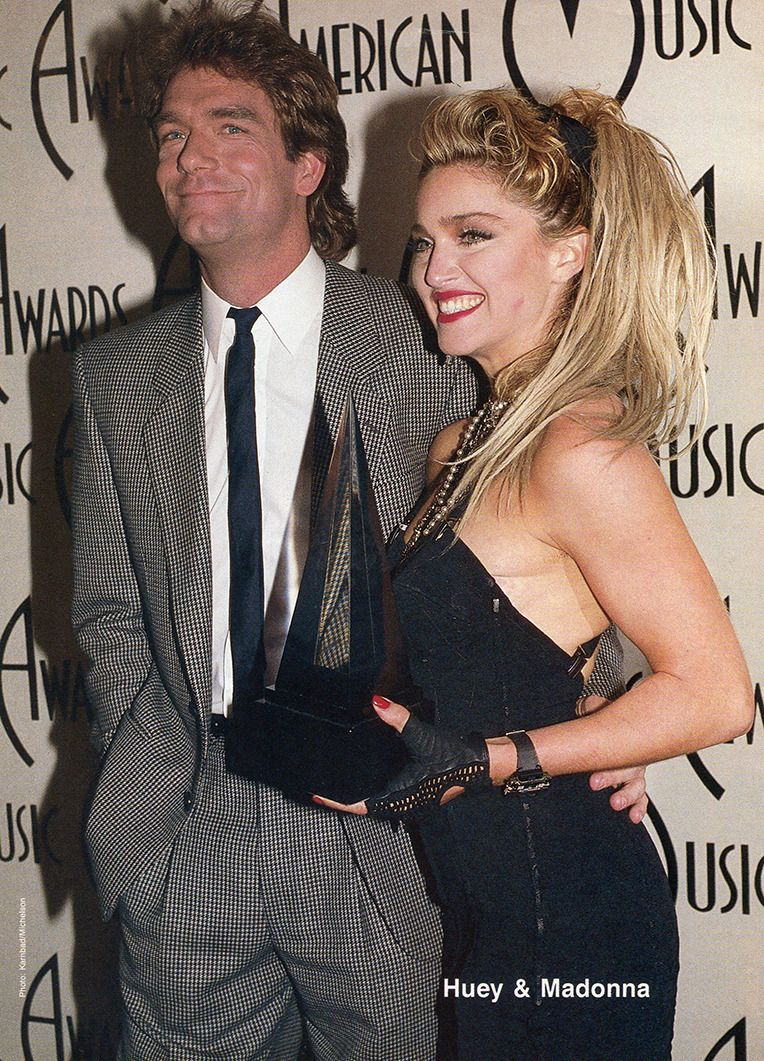 Madonna and Huey Lewis