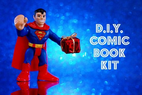 DIY Hobby Starter Kits That Encourage Writing! COMIC BOOK KIT {FREE Printables}