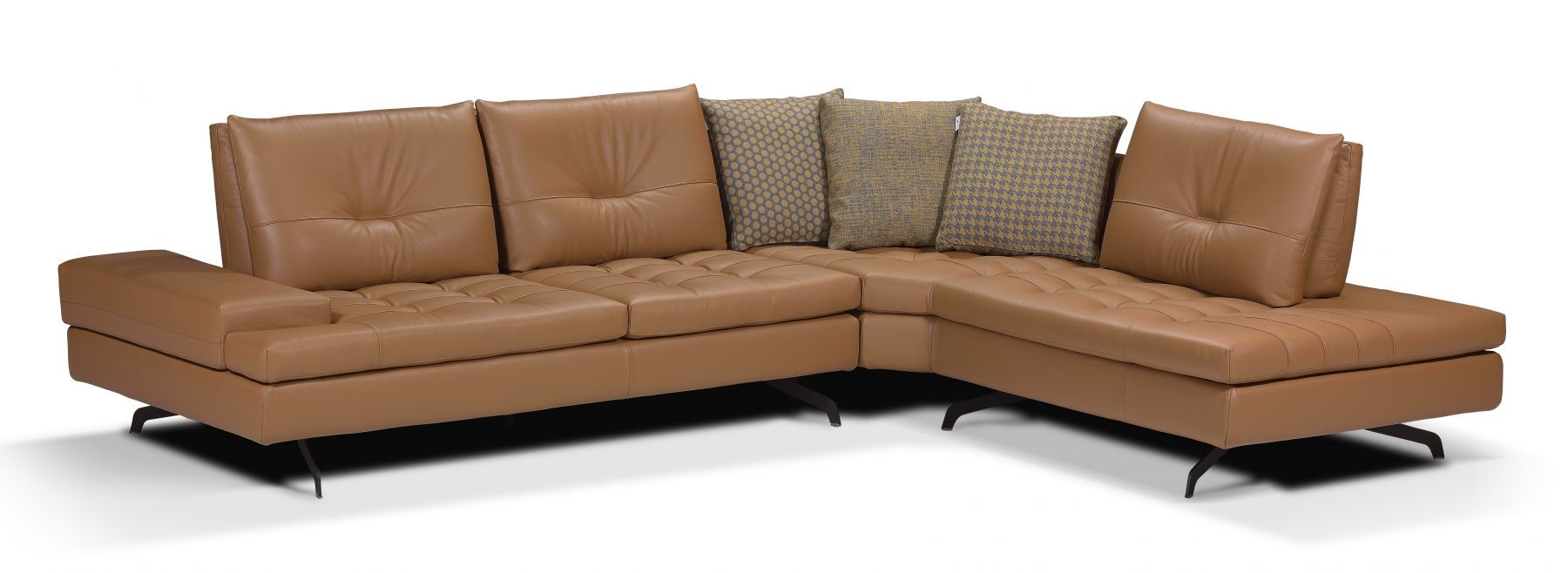 Calia Italia Toffee Home Collections Sectional Couch Sectional