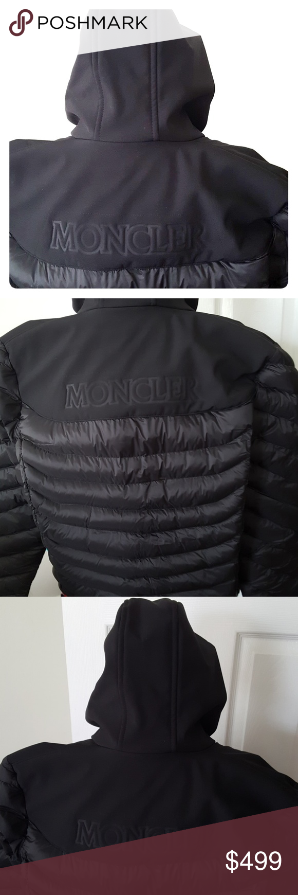 0e09cf28cb93 Moncler size 3 hooded puffer jacket coat