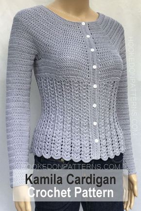 Cardigan Crochet Pattern - Kamila - Hooked On Patterns #crochethooks