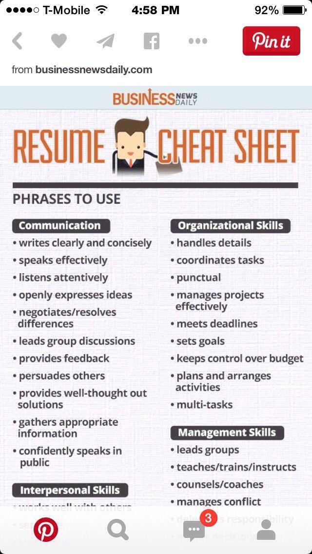 resume tip sheet