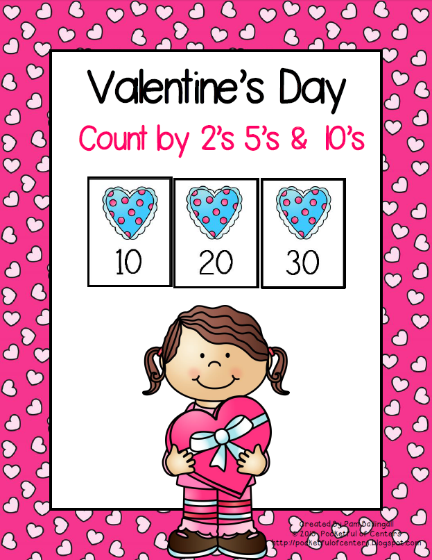 Valentine\'s Day Skip Counting {Count by 2\'s, 5\'s and 10\'s}