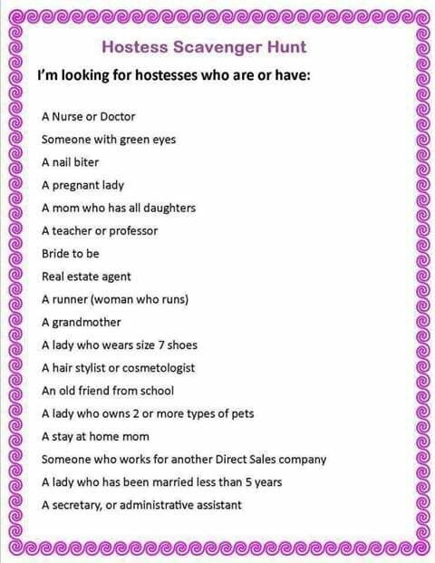 Mk Hostess Scavenger Hunt Memes Sarcastic Scavenger Hunt Instagram Party