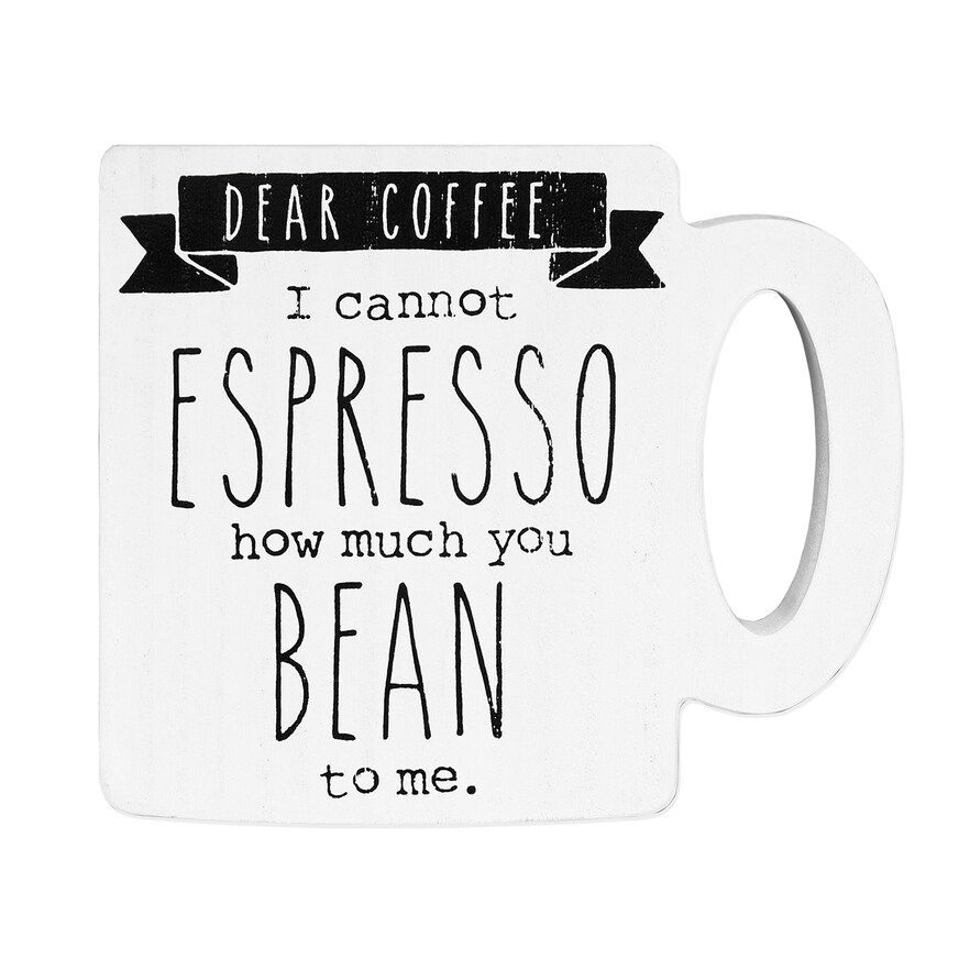 "Belle Maison ""Dear Coffee"" Tabletop Decor"