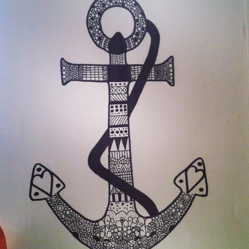 Anchor Aztec Drawing #aztec #art Art