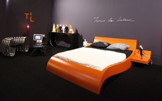 Modern Bed With Curved Base Invitations Bed By Thomas De Lussac Sarl