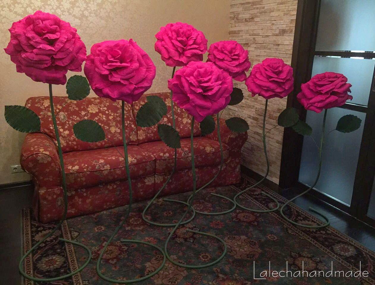 Большие цветы из изолона своими 89