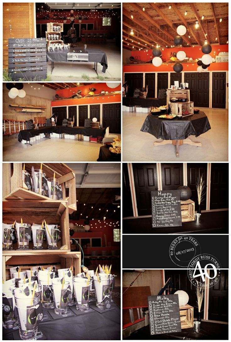 Male 40th Birthday Party Ideas Party Ideas Pinterest