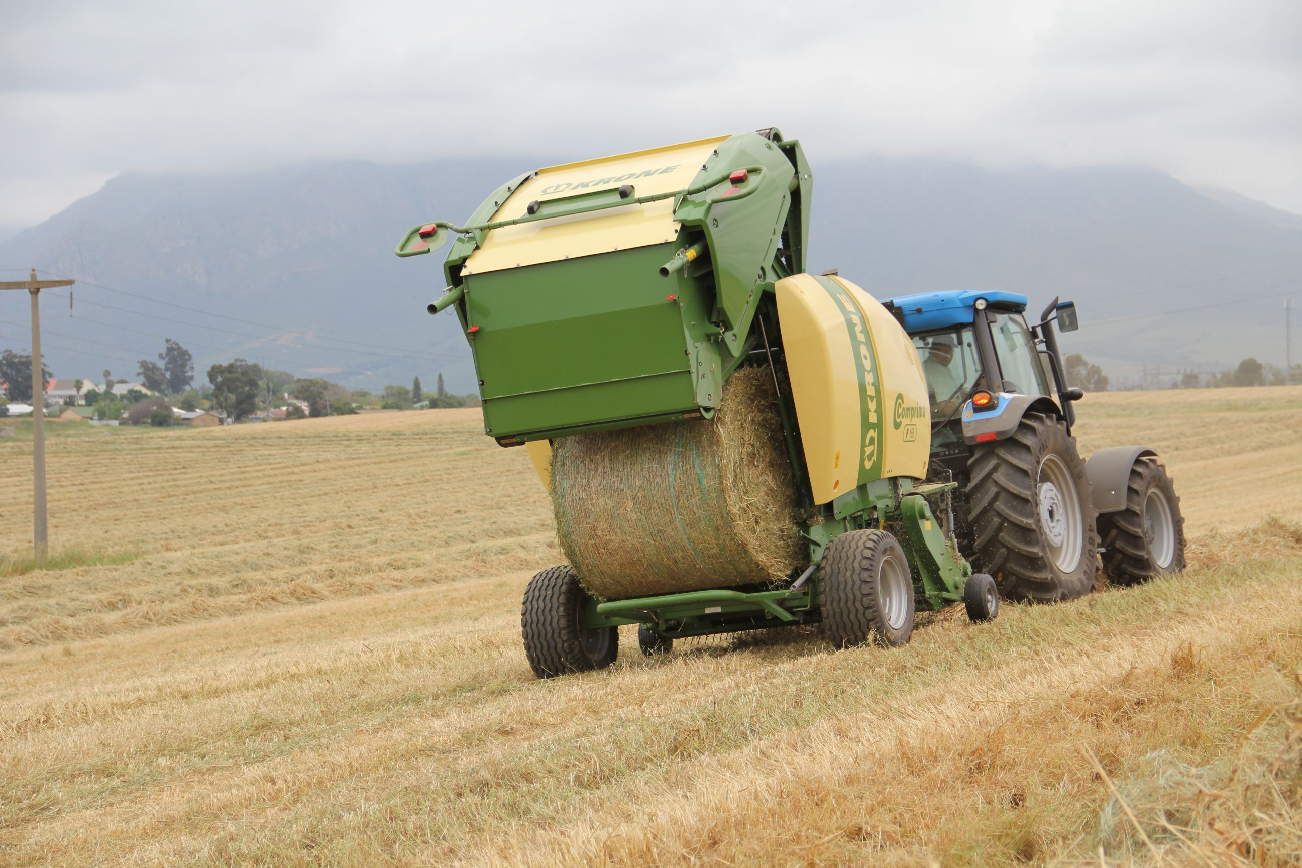 Krone Baler in action in Wolseley