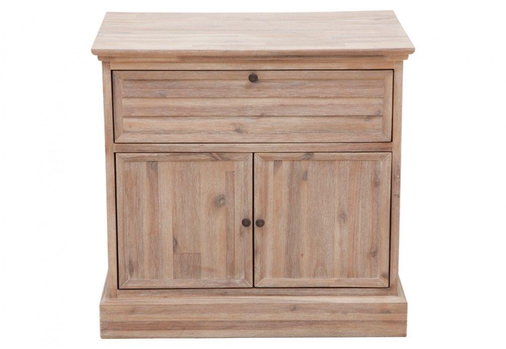 Best Chresthill 2 Door 1 Drawer Bedside Table Super Amart 640 x 480
