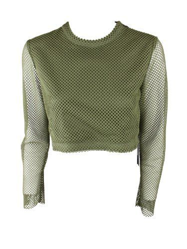 Timo Weiland Womens Fatigue Annabelle Crop Sheer Sleeve Mesh Top 4 Timo Weiland. $105.00. Save 45%!