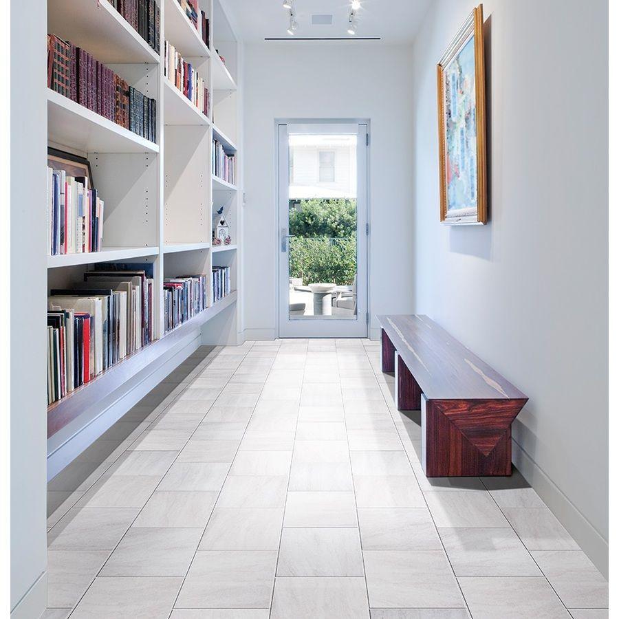 Shop GBI Tile & Stone Inc. Aversa Frost Ceramic Floor Tile (Common ...